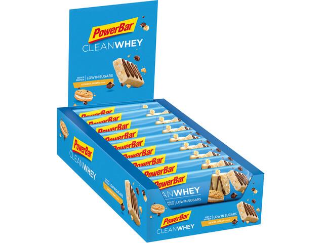 PowerBar Clean Whey Sport Ernæring Cookies & Cream 18 x 45g blå (2019) | Personlig pleje